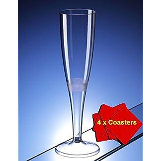 50-Champagnerflten-aus-hochwertigem-Kunststoff-mit-160-ml-Fllbestand-Ideal-fr-Picknicks-Camping-Festivals-Pool-BBQ-Gartenpartys-und-andere-besondere-Anlsse-50-Glser-mit-4-x-AIOS-Getrnkeuntersetzern