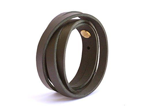 SIMARU Lederarmband Herren aus Premium Leder Made in Germany, Männer Armband größenverstellbar in schwarz, braun oder hellbraun