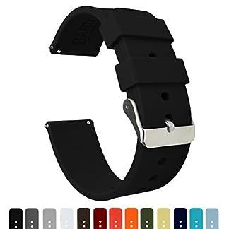 Barton-Watch-Bands-Silikon-Schnellverschlu-Whlen-Sie-Farbe-Breite-16mm-18mm-20mm-or-22mm-Weiche-Gummi-Uhr-Band
