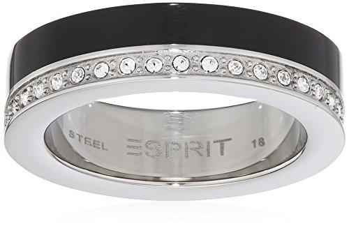 Esprit Damen-Ring Marin 68 Glam Edelstahl Resin Zirkonia weiß Brillantschliff