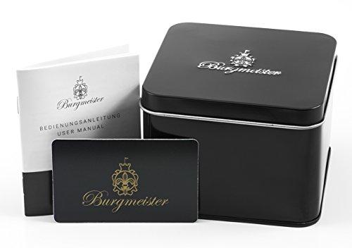 Burgmeister-Armbanduhr-fr-Damen-mit-Analog-Anzeige-Quarz-Uhr-und-Textil-Armband-Wasserdichte-Damenuhr-mit-zeitlosem-schickem-Design-klassische-elegante-Uhr-fr-Frauen-BM220-922-Denim