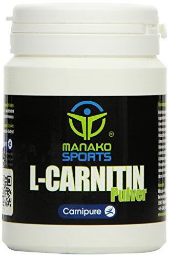 manako sports L-Carnitin Pulver (Original Carnipure™), 125 g Dose (1 x 0,125 kg)