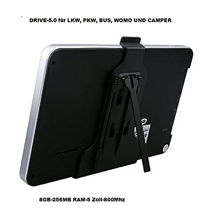5-Zoll-GPS-Navi-Navigationsgert-Navigationssystem-Fr-Truck-LKWPKW-BusWOHNMOBIL-und-Camper-Radarwarner-Kostenlos-Map-Update-Gefahrgut-Fahrspurassistent