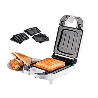 Korona-47041-Sandwichmaker-fr-Kleinhaushalte-Sandwichtoaster-3-in-1-auswechselbare-Platten