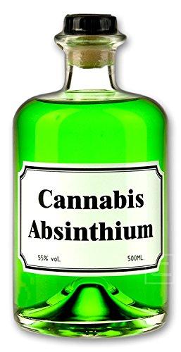 Grner-Cannabis-Absinth-05l-Getrnk-mit-Schweizer-Cannabis-35mg-Thujon-55-Alkohol-Spirituosen-Schnaps-Drink-Geschenke-fr-Mnner