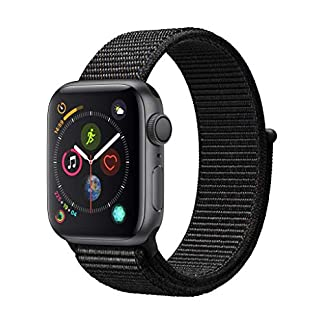 Apple-Watch-Series-4-GPS-40-mm-Aluminiumgehuse-Space-Grau-mit-Sport-Loop-Schwarz