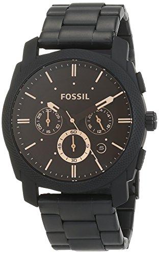 Fossil-Herrenuhr-MachineAnaloge-robuste-Chronographen-Uhr-mit-groem-Ziffernblatt-Datumsanzeige-wechselbarem-Edelstahl-Armband-im-zeitlosen-Industrial-Look