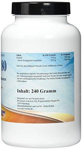Phytochem CLA Kapseln – Premium Qualität, 1er Pack (1 x 240 g)