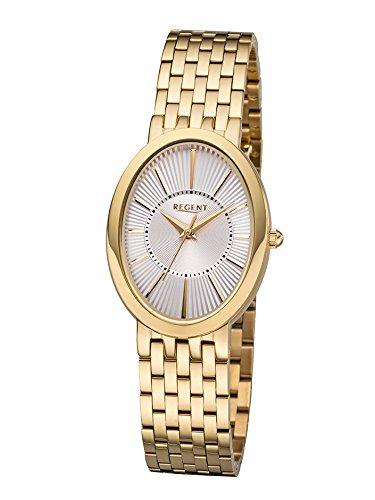 REGENT-Damen-Analog-Quarz-Uhr-mit-Edelstahl-Armband-12210988