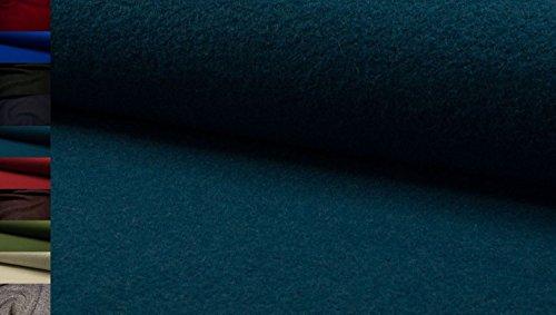 StoffBook PETROL HOCHWERTIG LODEN WALKLODEN STOFF 620G 100%SCHURWOLLE STOFFE, D543