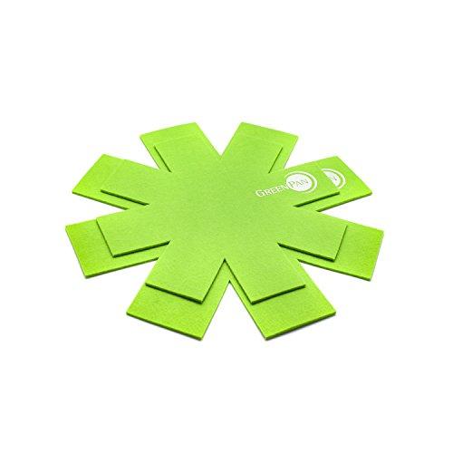 GreenPan cc000749–001Set 2Scheinbein zudem, Wollfilz, Grün, 27,34cm