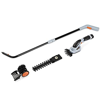 VonHaus-2-in-1-Akku-Grasschere-72-V-Strauchschere-Rasenkantenschere-Heckentrimmer-austauschbare-Messer-leichter-Wechsel-Teleskopgriff-Laufrder-inkl-Akku-und-Ladegert