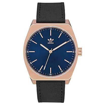 Adidas-Herren-Analog-Quarz-Smart-Watch-Armbanduhr-mit-Leder-Armband-Z05-2967-00