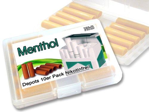 N$B® Depots ,,Menthol,, 10er Pack im Etui für E-Zigaretten ohne Nikotin