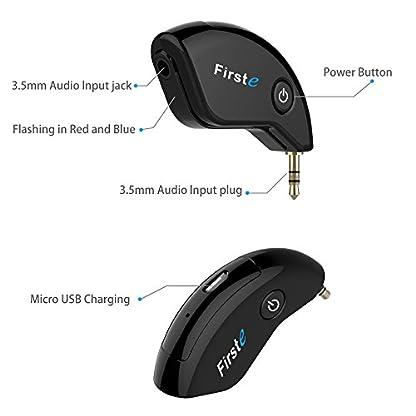 FirstE-Portable-Drahtloser-Bluetooth-Transmitter-Angeschlossen-an-TV-und-35-mm-AUX-Audiogerte