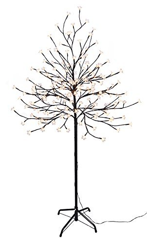 Spetebo-LED-Kirschbltenbaum-mit-180-LEDs-Hhe-ca-150-cm-Farbe-warmwei