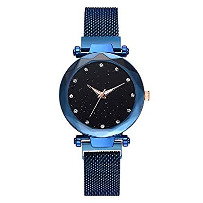 Jia-Meng-Damen-Armbanduhr-Fashion-Casual-Quarz-Mesh-Grtel-Analog-Armbanduhr