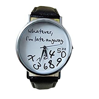 Valentinstag-Uhren-DELLIN-Heie-Frauen-Leder-Uhr-was-auch-immer-ich-bin-spt-Brief-Uhr-Uhr-neues
