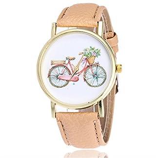 rainbabe-beige-Damen-Herren-artificiel-Leder-Band-Gurt-einfach-Fahrrad-Armbanduhr