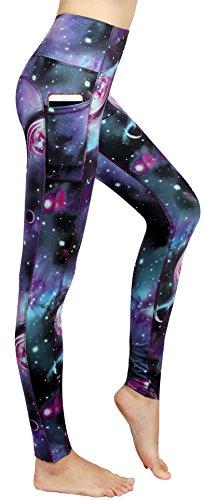 Munvot® Schöne Galaxy Printed Damen Sport Leggings – TUMMY CONTROL – Hohe Taille Sporthosen Super für Fitness, Laufen, Yoga, Workout etc.