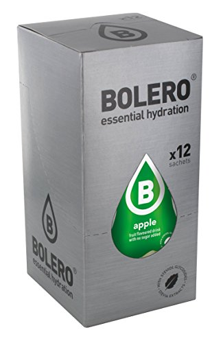 12 x Bolero Powdered Drinks Classic 9 g sachet Apfel