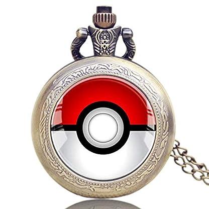 Vintage-Taschenuhr-Monster-Anime-Pokeball-Bronze-Pokemon-Go-Taschenuhr-fr-Herren-Taschenuhr-Geschenk