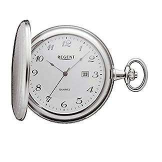 Regent-Taschenuhr-Quarz-Silber-Edelstahl-Datum-P40
