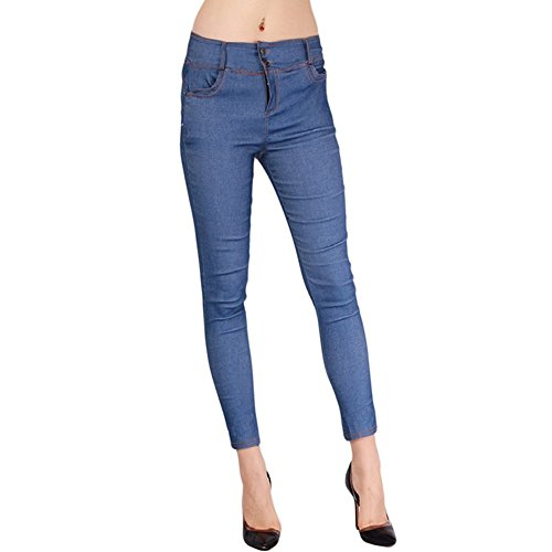 Damen Hose Skinny Röhre Push up Hose Stretch Slimfit Jeggings Leggings Stretch Röhrenjeans Jeans