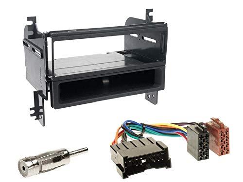 Alpine-CDE-201R-1-DIN-Autoradio-CD-USB-AUX-fr-Hyundai-Tucson-JM-2005-2010-schwarz
