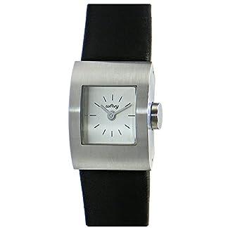 MM-Damen-Armbanduhr-Wavy-analog-Quarz-Edelstahl-Lederband-schwarz-M5437-22