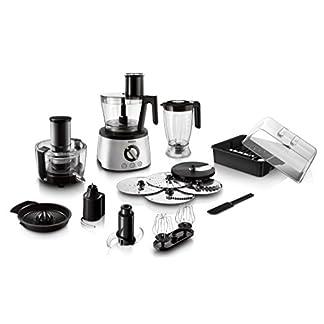 Philips-HR777800-Kchenmaschine-1300-Watt-inkl-Knethaken-Entsafter-Standmixer-und-Zitruspresse-schwarzsilber
