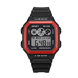 100M-Wasserdicht-Mnner-Armbanduhren-fr-Smartwatches-Herren-Sportuhren-mit-Kalender-Beleuchtung-Wecker-Multifunktional