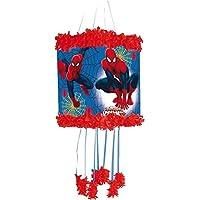 Pinata-ULTIMATE-SPIDER-MAN-als-Zugpinata-fr-bis-zu-7-Kinder-plus-Maske-Wird-mit-Sssigkeiten-oder-Spielen-gefllt-ca-28cm-Durchmesser-Piata-Mexiko-Kinder-Geburtstag-Kindergeburtstag-Spiele-Spass-Marvel-