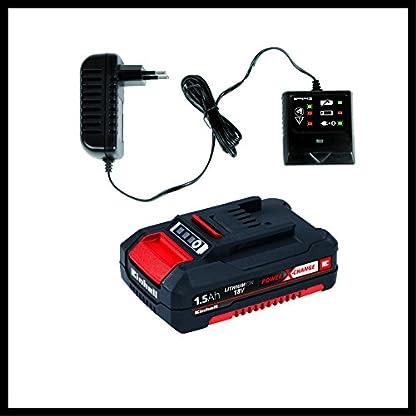 Einhell-Benzin-Rasenmher-2850-UMin-E-Start-mit-Power-X-Change-6-stufige-Schnitthhenverstellung-Mulchfunktion-Seiten-Deflektorheckauswurf-inkl-Power-X-Change-Akku
