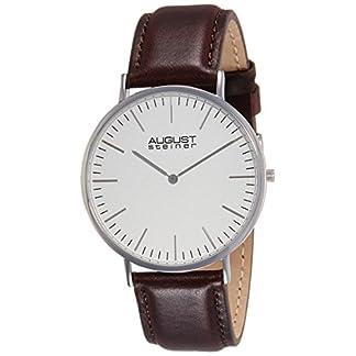 August-Steiner-Herren-Endeavor-Analog-Quarz-Armbanduhr-mit-Leder-Armband