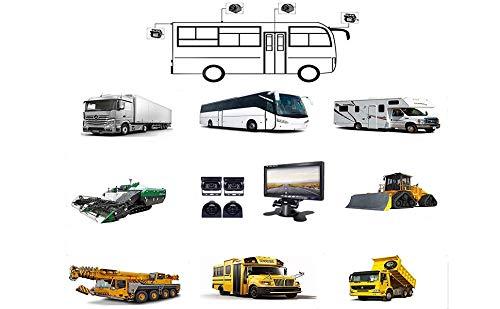 Podofo-9V-24V-Car-Backup-Camera-Kit-7-Inch-HD-Quad-split-Monitor-4-x-Waterproof-IR-Night-Vision-Cameras