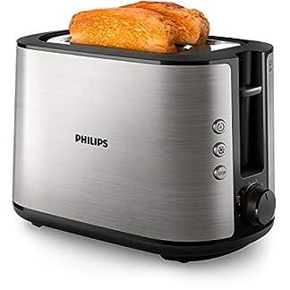 Philips-HD265090-Toaster-Edelstahl-950-W-8-Brunungsstufen-Brtchenaufsatz-Auftau-und-Aufwrmfunktion-Stopp-Taste-Liftfunktion