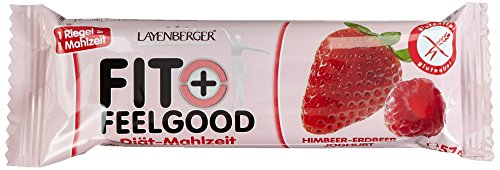Layenberger Fit + Feelgood Mahlzeitenersatz Riegel Himbeer-Erdbeer, 15er Pack (15 x 57 g)