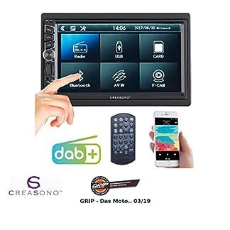 Creasono-2-DIN-Radio-2-DIN-DABFM-Autoradio-Touchdisplay-Bluetooth-Freisprecher-4×45-W-Autoradio-2DIN