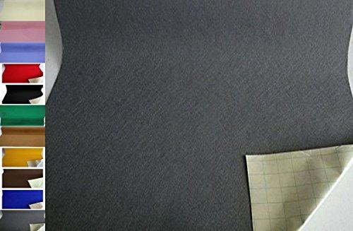 StoffBook EDEL BASTELFILZ FILZSTOFF SELBSTKLEBEND 100CM BREIT STOFF STOFFE, C345 (Grau)