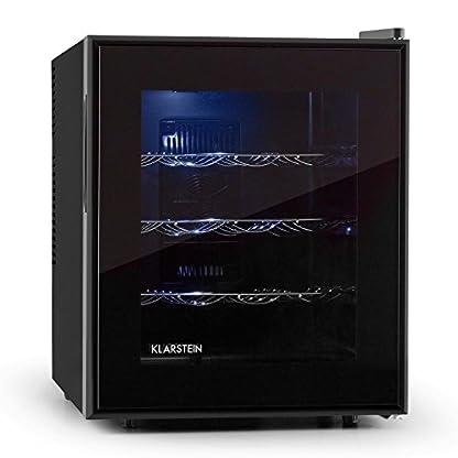 Klarstein-Barolo-Weinkhlschrank-Getrnkekhlschrank-48-Liter-16-Flaschen-doppelt-isoliert-3-Einschbe-freistehend-leise-11-18C-70-Watt-hhenverstellbar-schwarz
