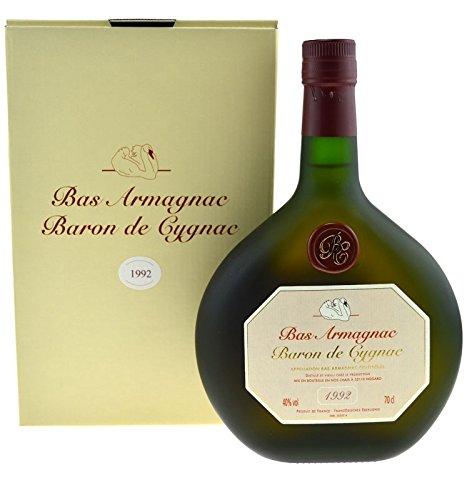 Raritt-Armagnac-Baron-de-Cygnac-07l-Jahrgang-1992-incl-Geschenkpackung