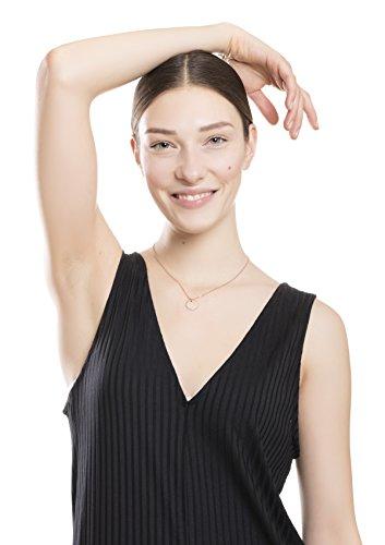 Happiness Boutique Damen Kette mit Kreis Anhänger in Rosegold | Feine Kette Runder Anhänger Minimalist Halskette Schmuck mit Rosegold Überzogen