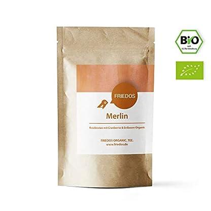 Friedos-Tee-organischer-Rooibostee-Merlin-Bio-Teemischung-Rotbuschtee-lose-mit-Rooibos-Cranberrie-Erdbeere-100g