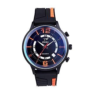 Godagoda-Herren-Armbanduhr-Analoge-Quarzuhr-Silikon-Armband-Outdoor-Sportuhr-Schwarz-fr-Mnner