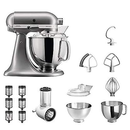 KitchenAid-Kchenmaschine-Artisan-5KSM175PS-Veggie-S-Paket-mit-TOP-Zubehr-Gemseschneider-mit-drei-Trommeln-sowie-zustzlichem-Raspel-und-Reibenpaket-mit-3-weiteren-Trommeln-Kontur-Silber