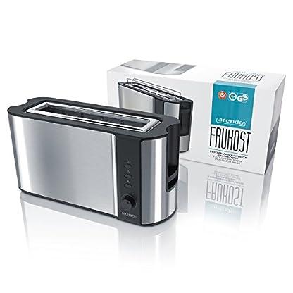 Arendo-Automatik-Toaster-Langschlitz-mit-Defrost-Funktion-Wrmeisolierendes-Doppelwandgehuse-Automatische-Brotzentrierung-Brtchenaufsatz-herausziehbare-Krmelschublade-GS-zertifiziert