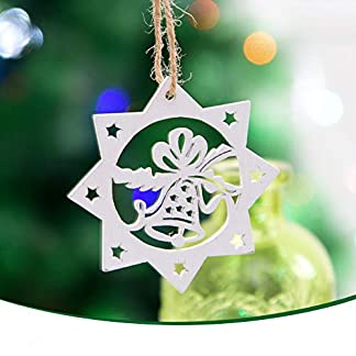 Deep-lovly-Weihnachtsschmuck-Weihnachtsbaum-Holzanhnger-Kreative-Komplett-Geschmckt-DIY-Weihnachtsbaumschmuck-Schneeflocken-Klingel-Christbaumanhnger-Weihnachten-Dekoration