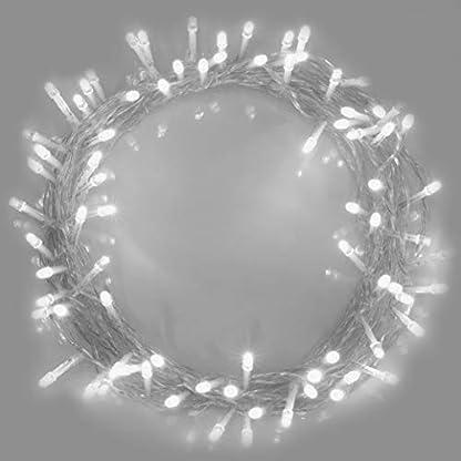 Lichterketten-100-LED-warme-weie-Helle-Weibe-Netzbetriebene
