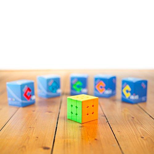 CUBIXS-Zauberwrfel-3×3-Original-Speedcube-Typ-Sydney-stickerloser-Wrfel-mit-optimierten-Dreheigenschaften-3×3-Ohne-Sticker